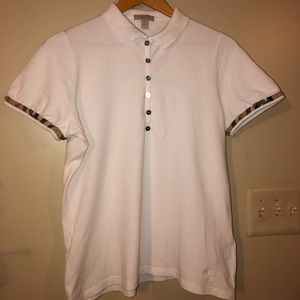 White Burberry Polo